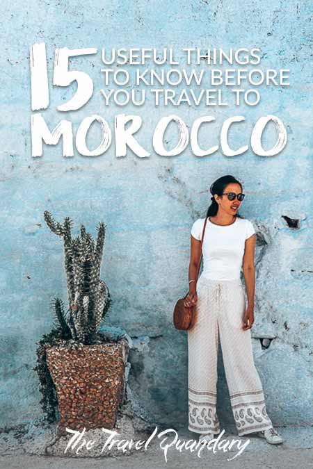 Save Pinterest Board | 15 Important Things To Know Before You Travel To Morocco