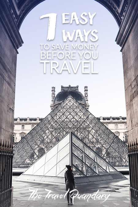 Save to Pinterest |7 Easy Ways to Save Money To Travel