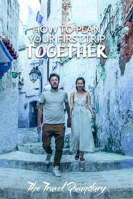 How To Plan Your First Trip Together| Pinterest Board