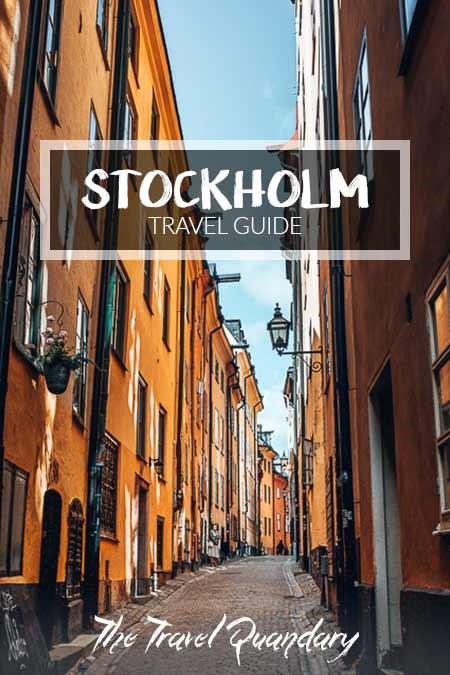Pin Photo: Yellow laneway of Stockholm, Sweden