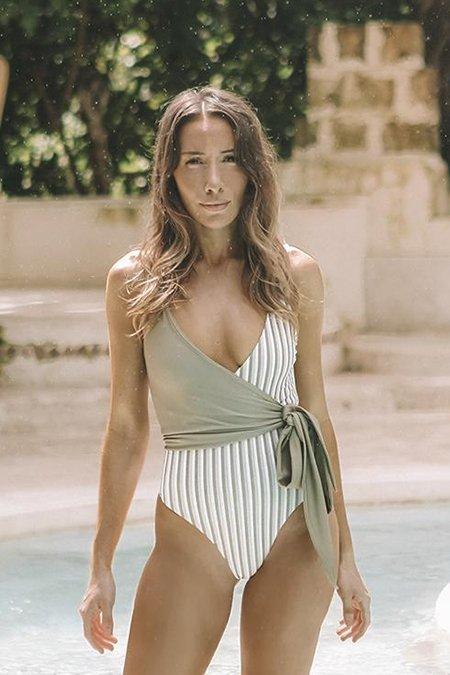 Baiia Mossman Onepiece Wrap Swimsuit