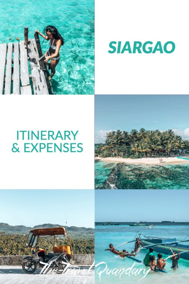 Pinterest |Siargao Itinerary And Expenses