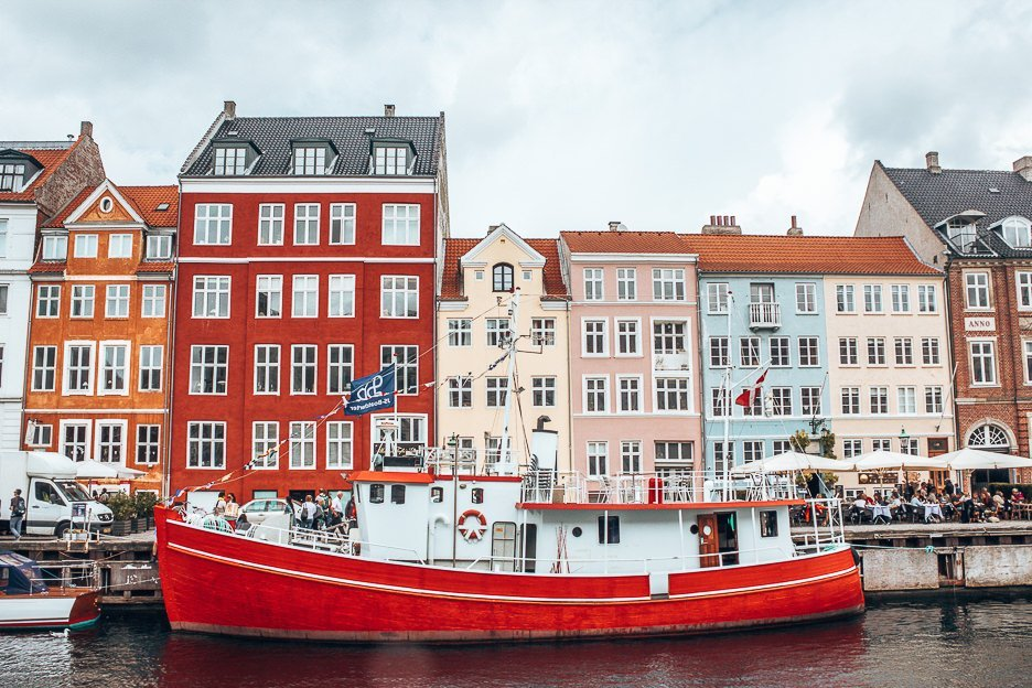 Nyhavn on a cloudy day - Copenhagen City Guide, Denmark