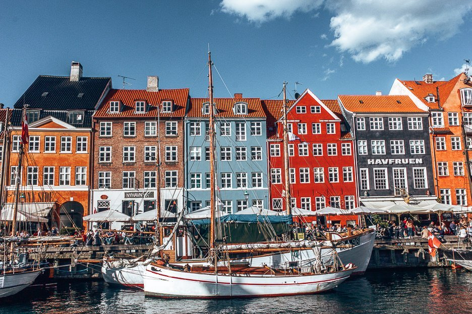 Colourful houses of Nyhavn - Copenhagen City Guide, Denmark