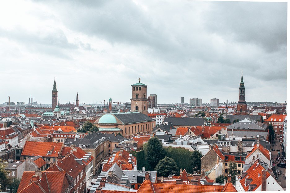 View over Copenhagen from The Round Tower - Copenhagen City Guide, Denmark