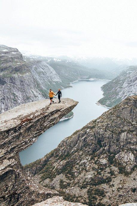 Walking on Trolltunga - Norway