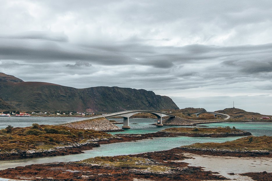 One of the bridges connecting the Lofoten Islands - Norway