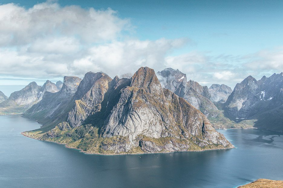 Mountain scapes of Lofoten Islands - Norway