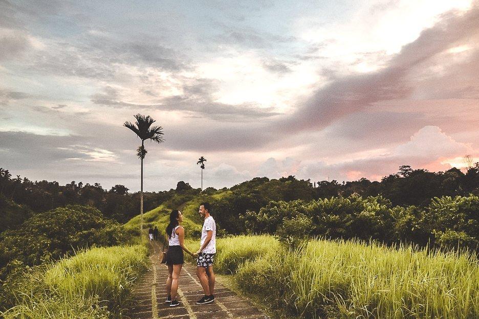 Walking along Campuhan Ridge Walk at sunset, Ubud, Bali Gallery