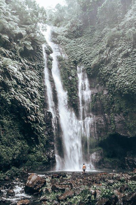 Bevan standing underneath Fiji Waterfalls, Bali Gallery