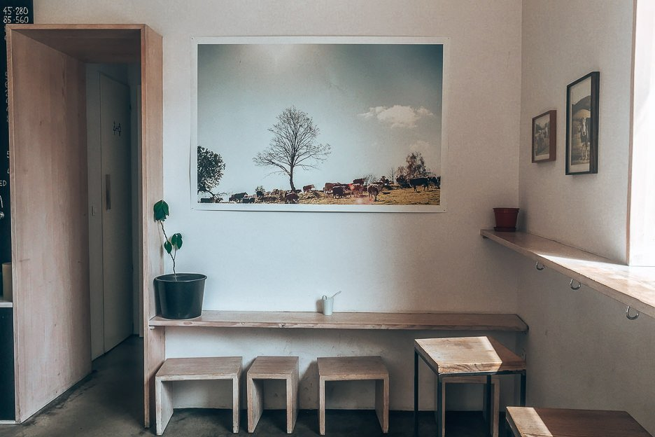 Minimalist interiors at I Need Coffee!, Coffee in Prague