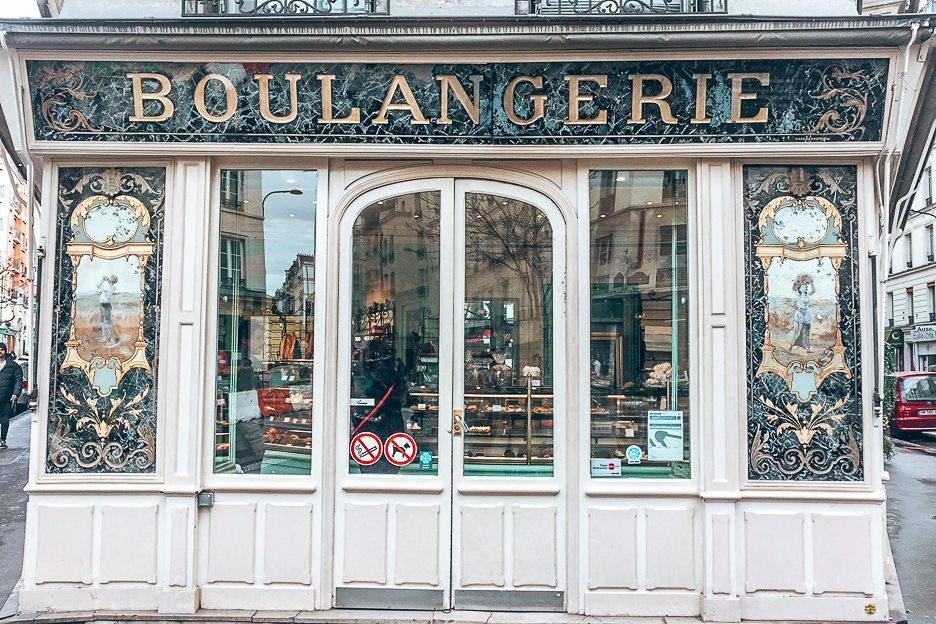 Outside Boulangerie Bo, Patisserie in Paris