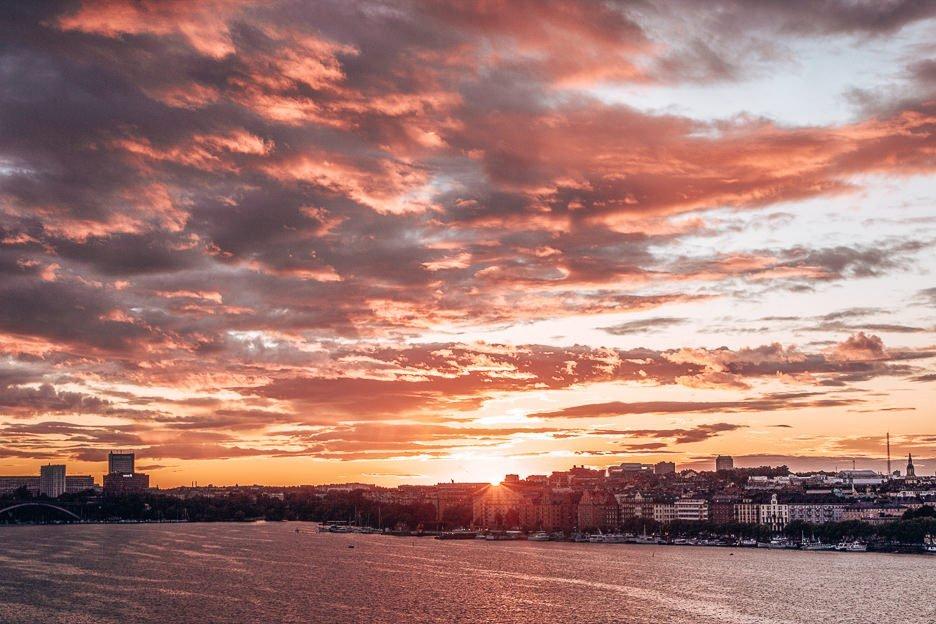 Sunset over the archipelago - Stockholm