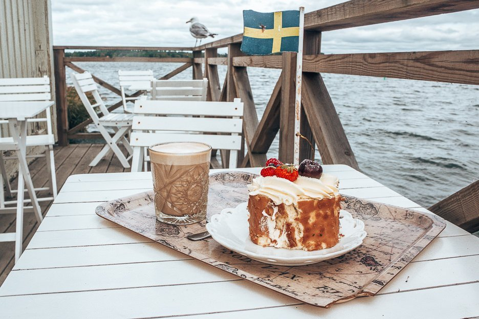Coffee and cake atVaxholms Hembygdsgårds Café