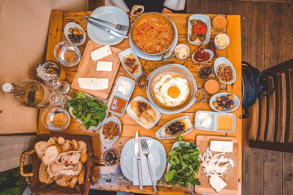 Breakfast spread at Naga Putrika - Istanbul City Guide, Turkey