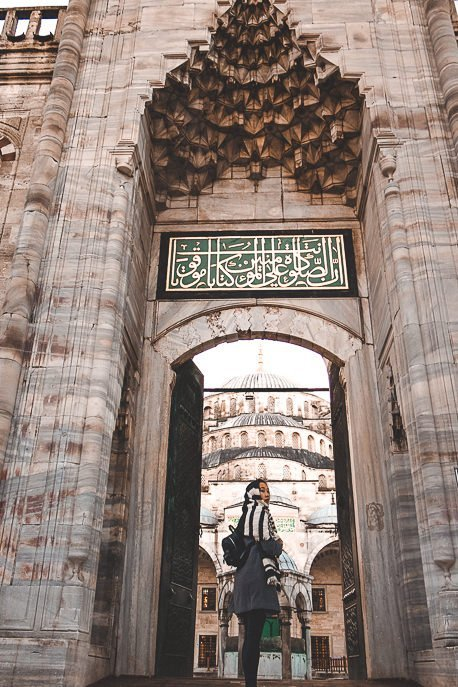 Entrance into courtyard of The Blue Mosque - Istanbul City Guide, Turkey