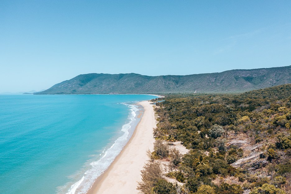 The view of the coast from Rex lookout. Perfect stop for Queensland Campervan Itinerary