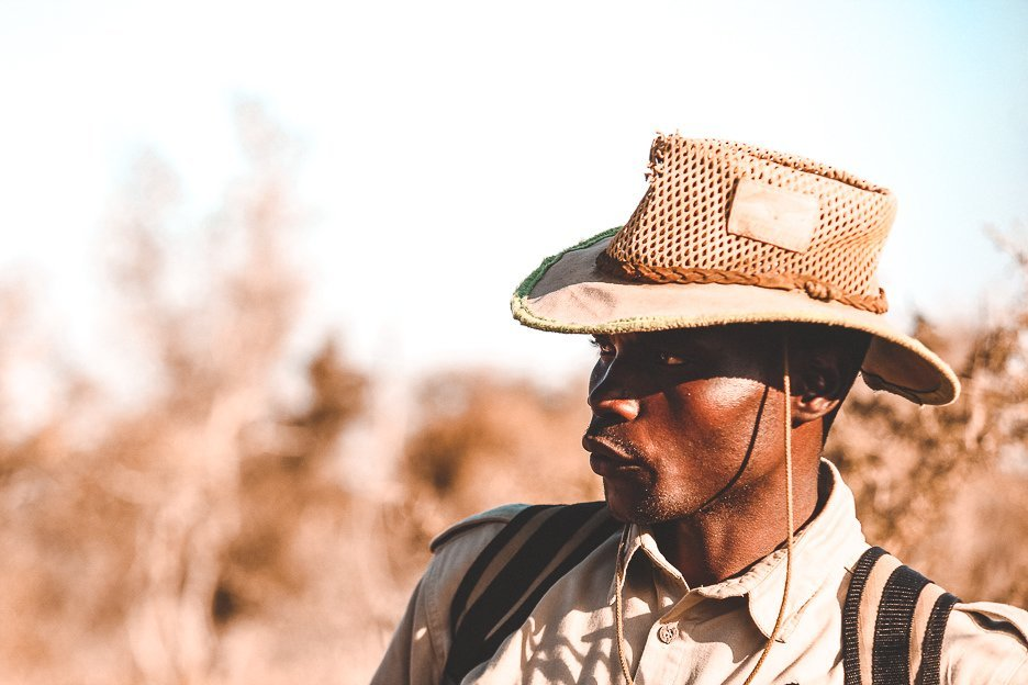 Portrait of our park ranger at Hlane Royal National Park, Swaziland