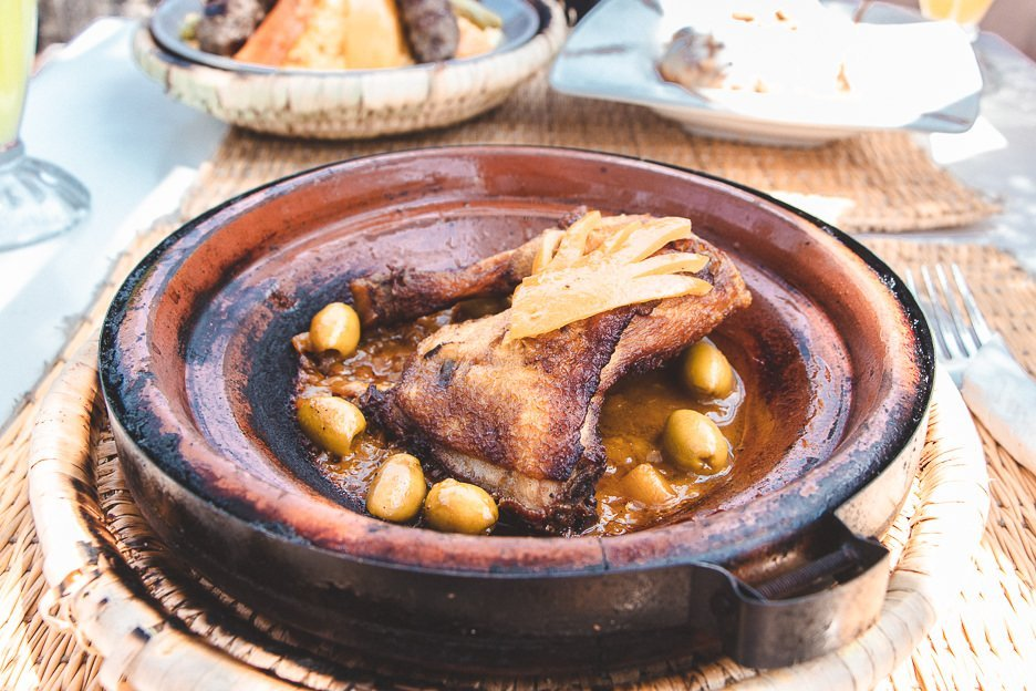 Chicken Tagine with preserved lemon and green olives Morocco
