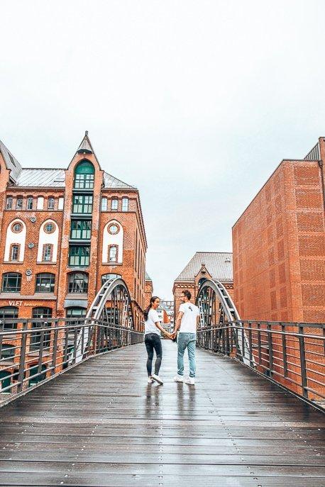 Exploring Spiecherstadt hand in hand, Hamburg - First Trip