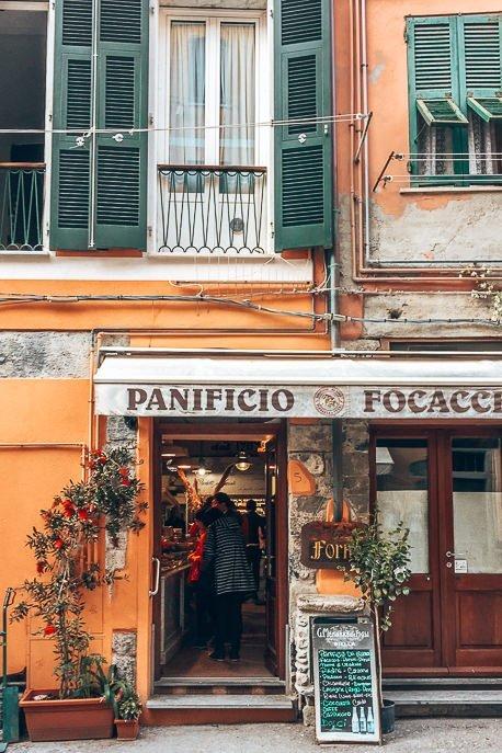 Quintessential Italian shopfronts in Cinque Terre