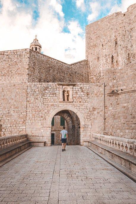 Bevan walking around Dubrovnik Old Town at sunrise - Croatia