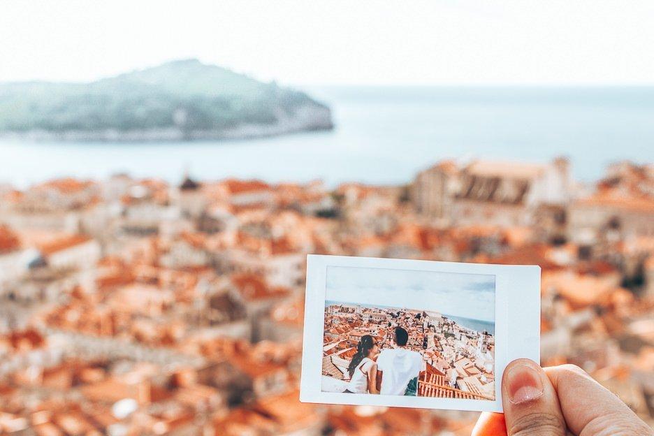 Polaroid memories in Dubrovnik, Croatia - First Trip