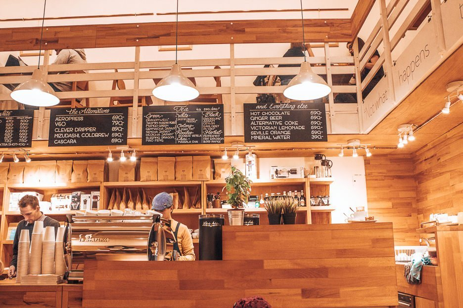 Coffee counter at Madal Cafe, Coffee in Budapest