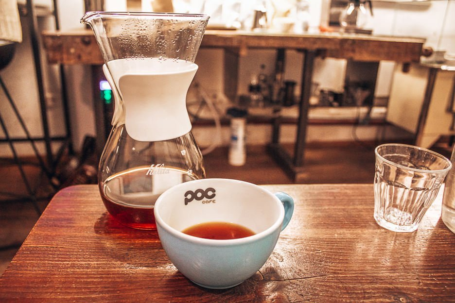Filter coffee at POC Cafe, Coffee in Vienna
