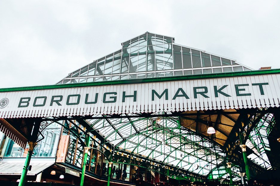 The famous Borough Market in London