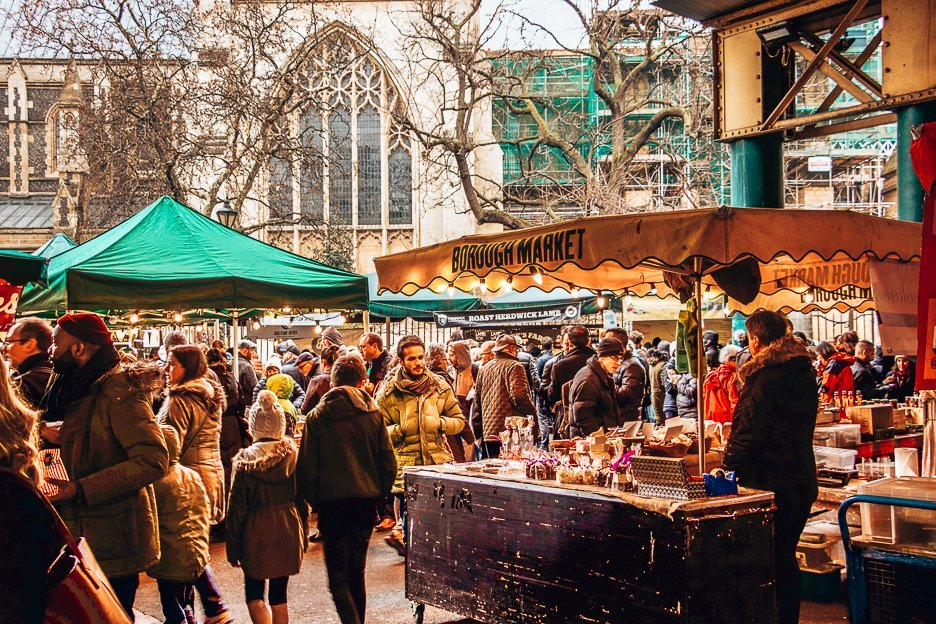 Delicious food stalls at Borough Market, London Market Guide