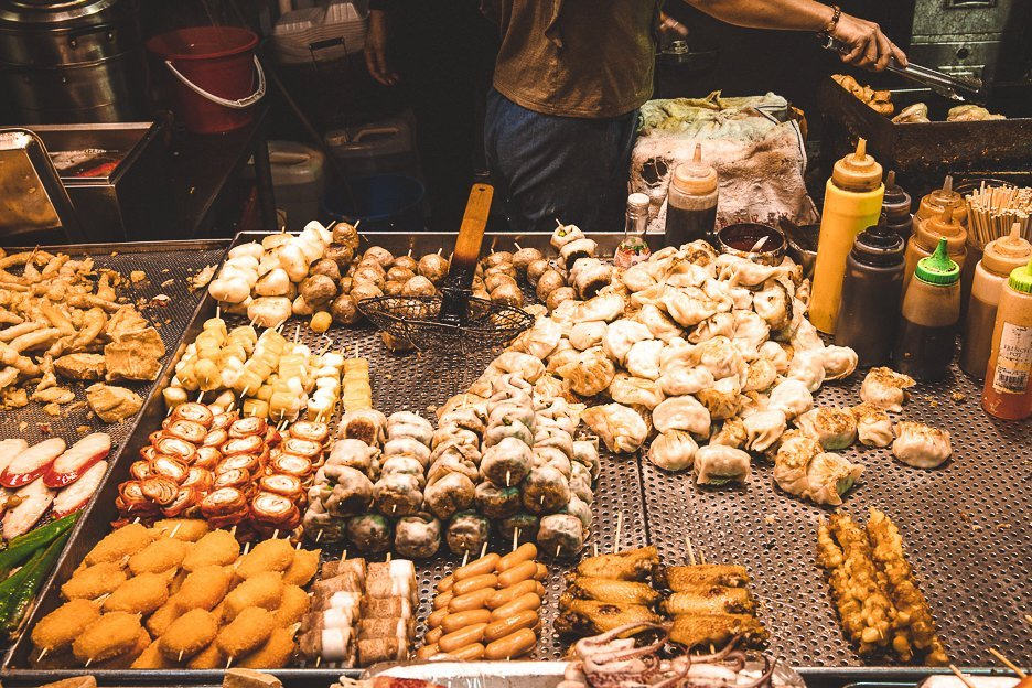 Street food ready to be deep fried - Mong Kok, Hong Kong