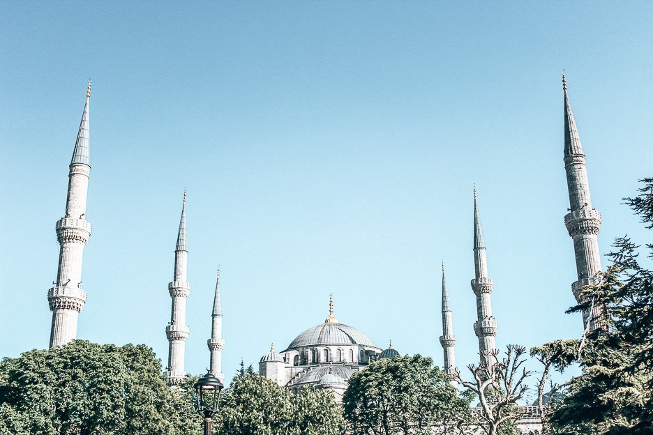 Minarets of The Blue Mosque - Istanbul