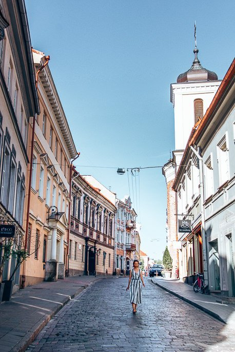 Strolling the streets at daybreak, Vilnius