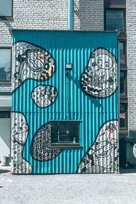Graffit street art in Telliskivi - Tallinn, Estonia