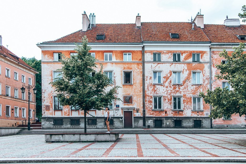 Wandering the streets of Warsaw Poland