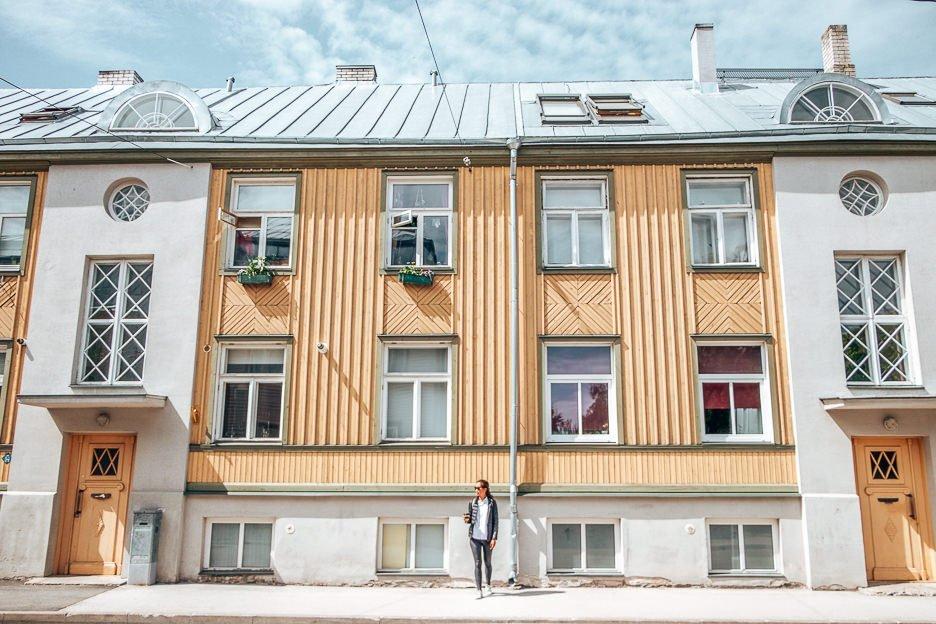 Wandering the streets of Tallinn, Estonia