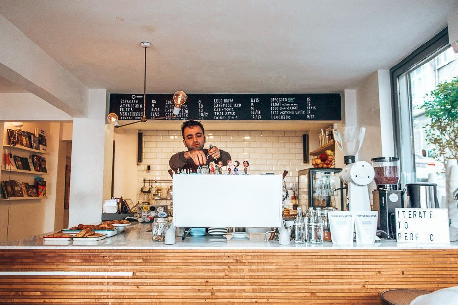 Specialty Coffee Shops In Istanbul | Barista preparing coffee at Norm Coffee, Coffee in Istanbul