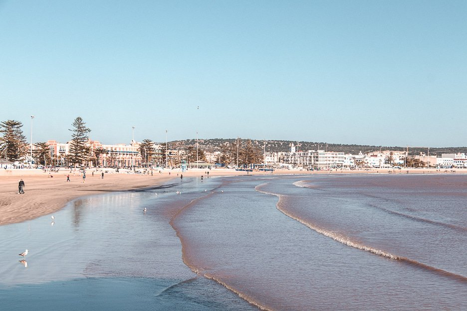Essaouira beach just after sunrise