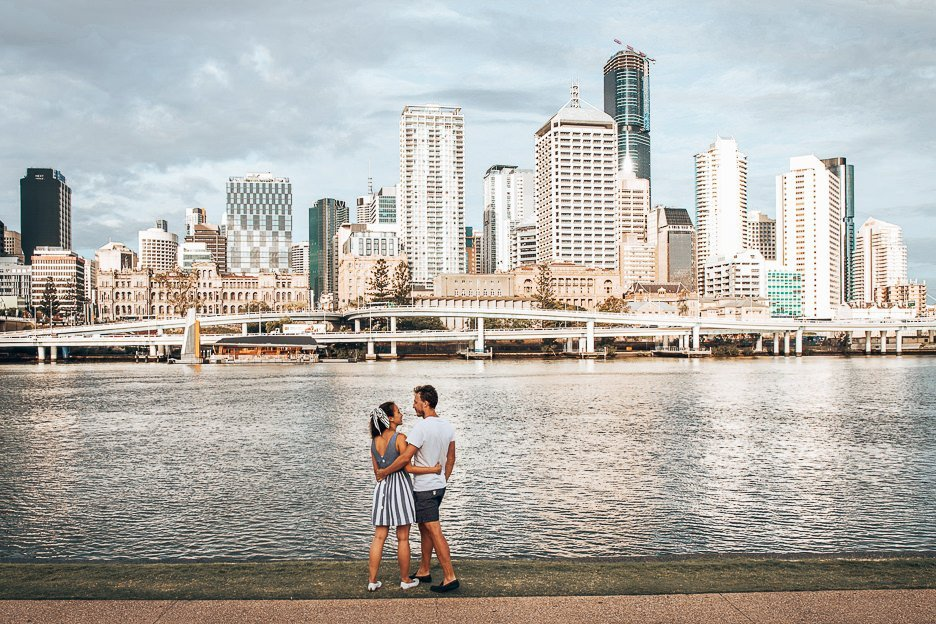 The River City view from South Bank, Brisbane Australia