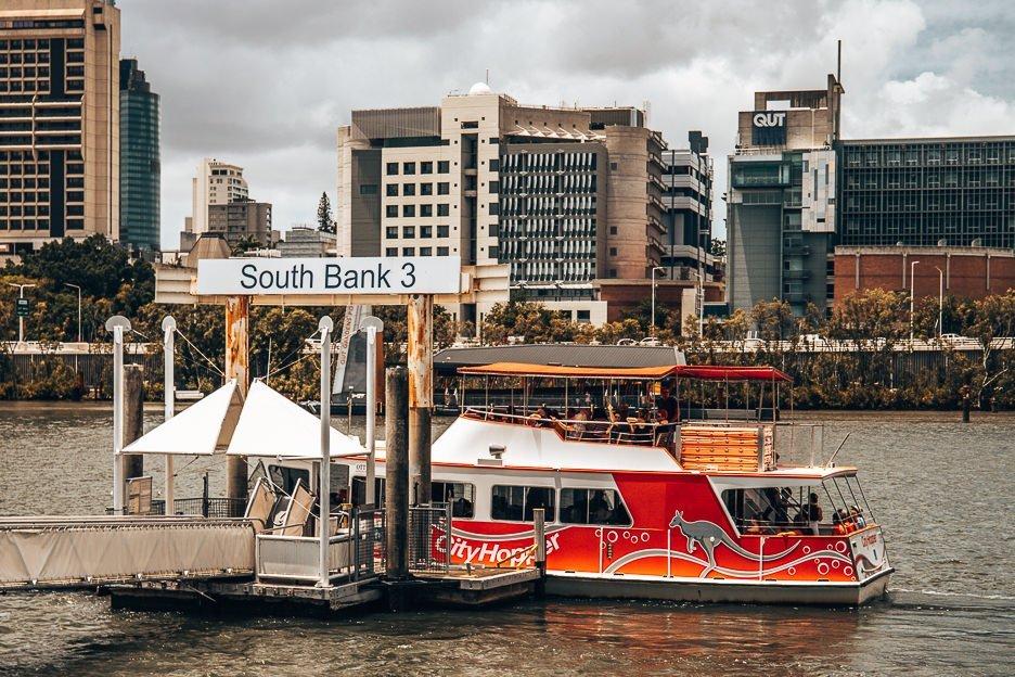 South Bank ferry terminal, getting around Brisbane Australia