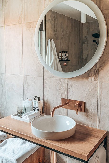 Bathroom goals inside a House Pad room at Zagame's House, Carlton