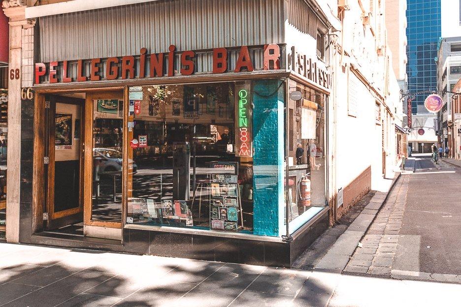 Italian restaurant Pellegrini's - Melbourne Travel Guide