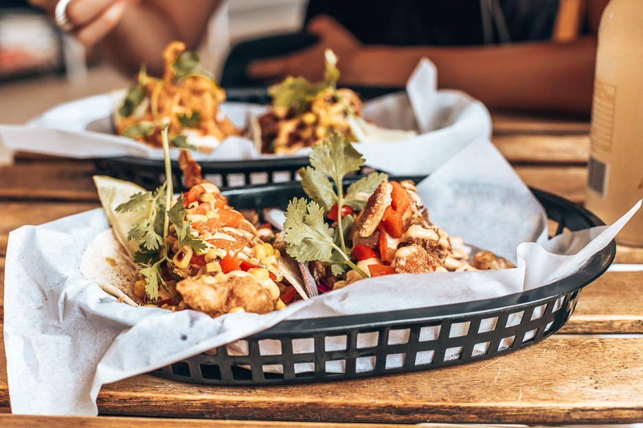 Delicious tacos served at Mexican restaurant Chihuahua in Byron Bay