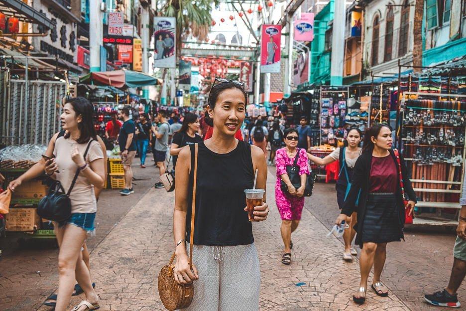 Strolling through Chinatown in Kuala Lumpur, Malaysia
