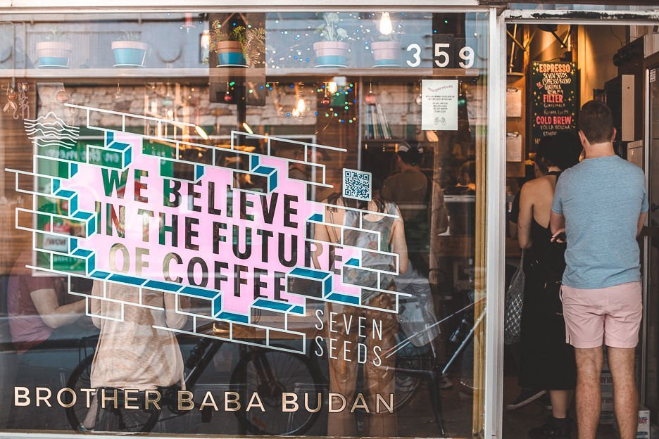 Peeking inside to Brother Baba Budan, best coffee in Melbourne, Victoria