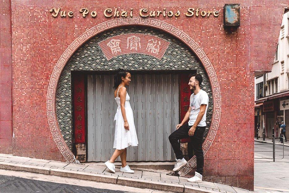 Shopfront outside Man Mo Temple | Hong Kong Instagram Shots