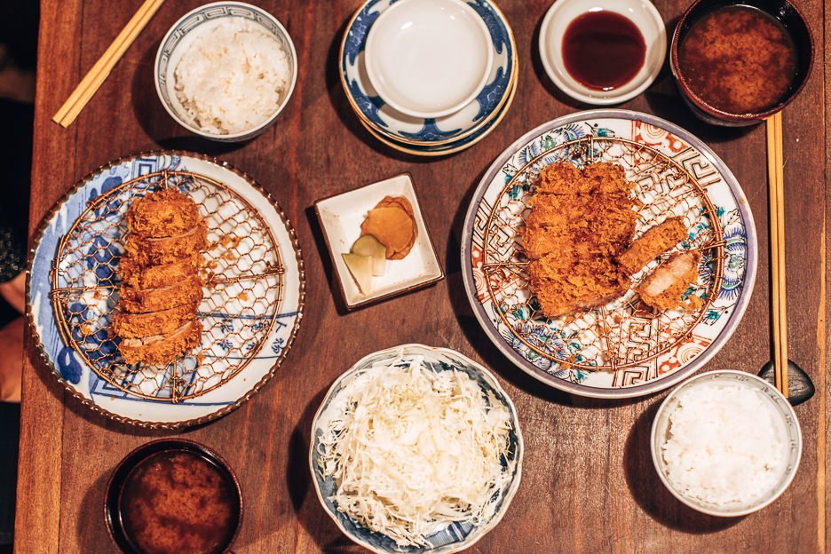 Tonkatsu dinner for two at Butagami | Must Eat restaurants in Japan