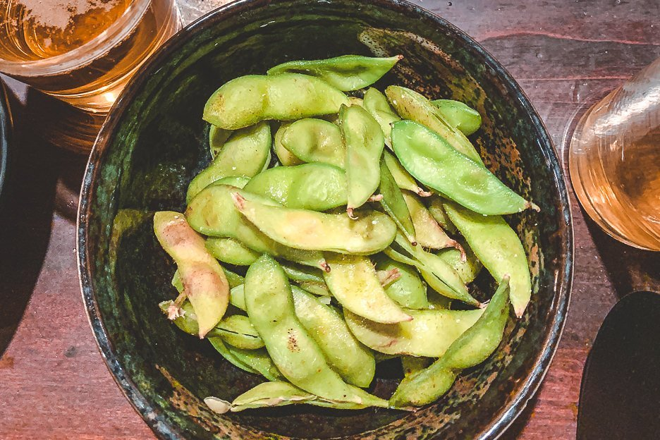 Bowl of edamame - must-try Japanese Food in Tokyo