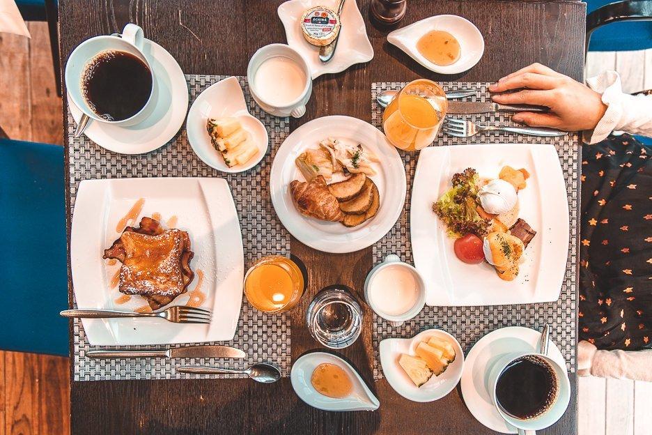 Full breakfast spread at The Gate Hotel Asakusa Tokyo Japan